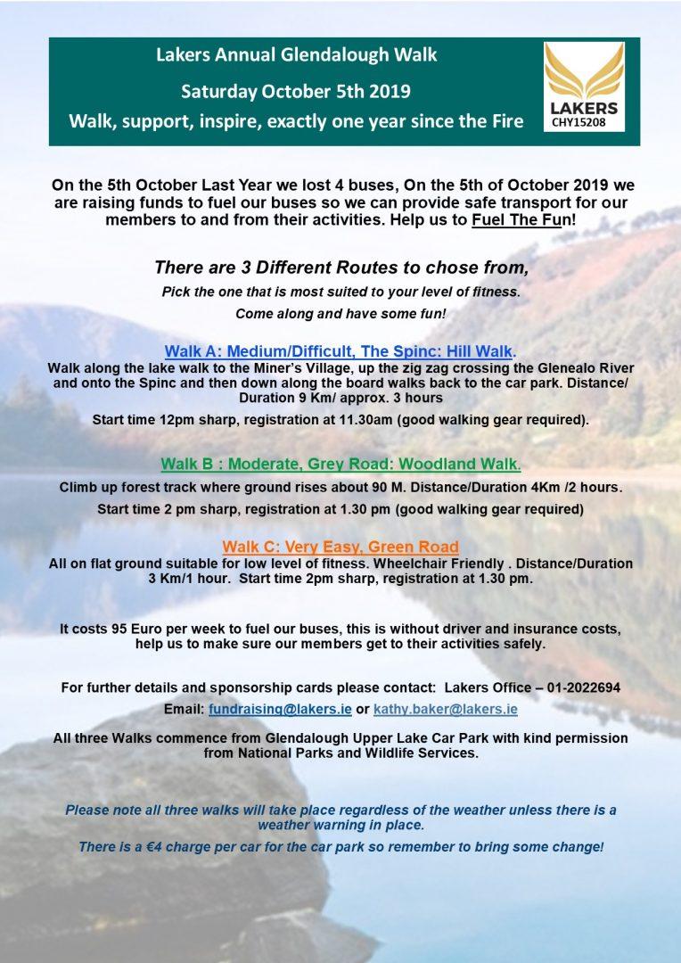 Poster Glendalough Walk 2019