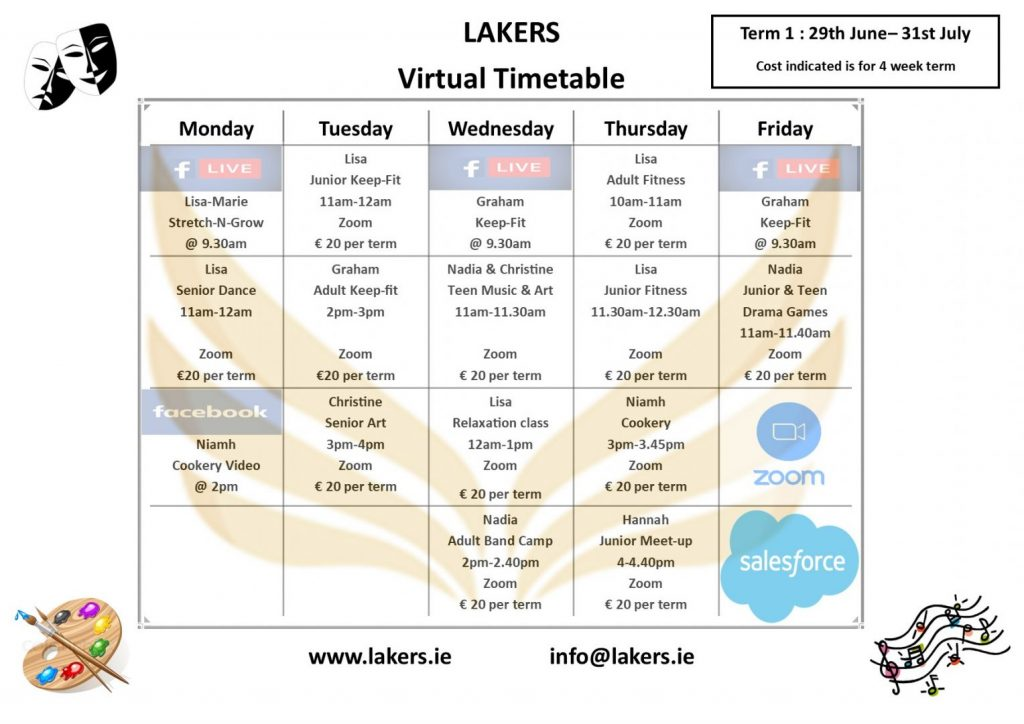 Virtual Timetable Summer