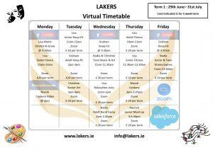 Virtual Timetable Summer