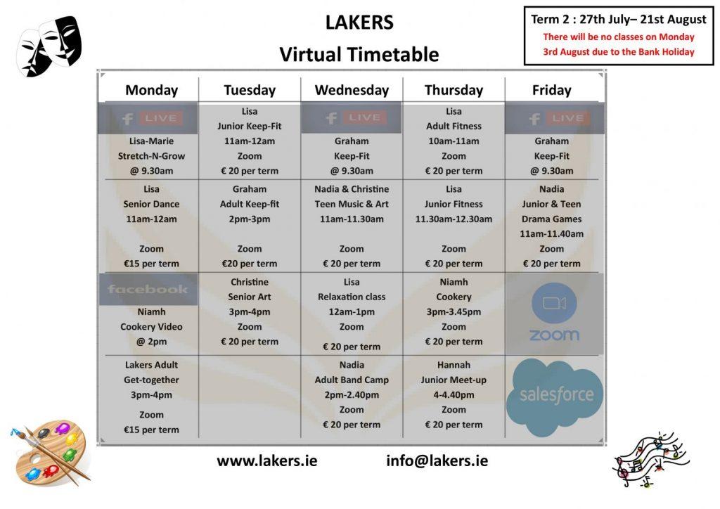 Virtual Timetable Term 2 Page 0