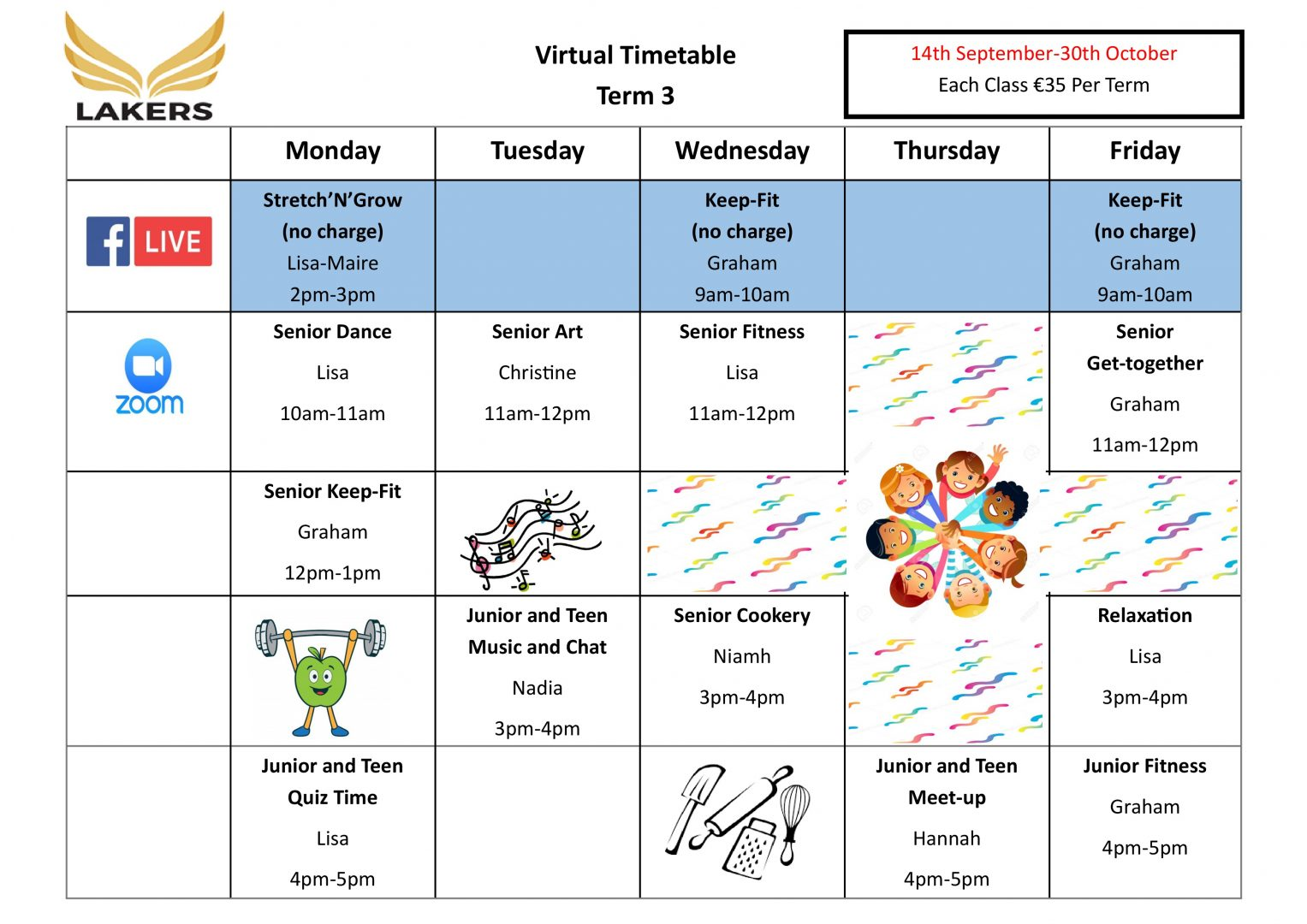 Term 3 Timetable 14th September 30th October Online Page 0