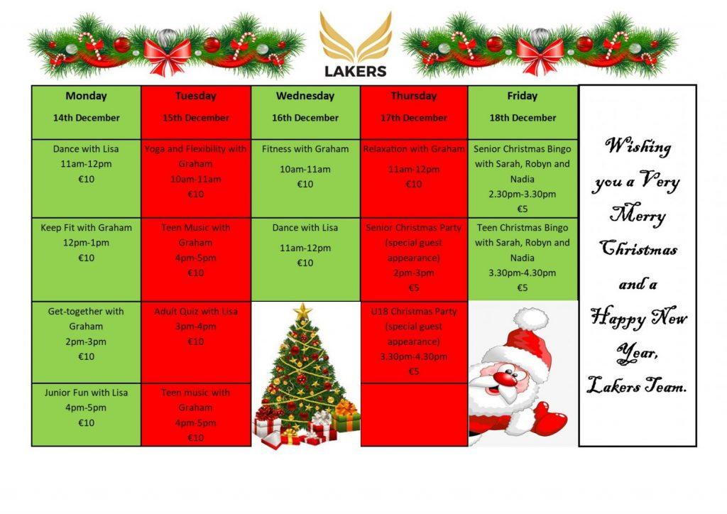 Christmas Schedule Week 2